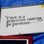 Dust is a protective covering for furniture  #garagesale