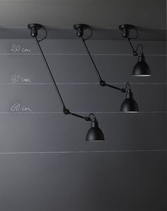 Image result for black arm industrial ceiling light