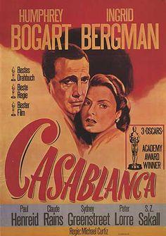 Casablanca Humphrey Bogart Ingrid Bergman #13 movie poster print