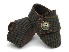 ~Benjamin Baby Boy Shoe in Houndstooth Wool~
