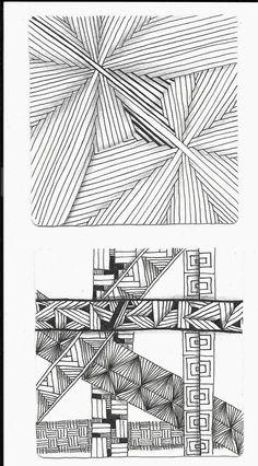 inquisitive-Sue: Zentangle Challenge #219 - Straight Lines