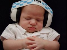 These noise canceling headphones are perfect for your baby's first rock show.