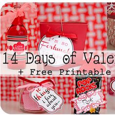 Precious Valentine's Day gift ideas with free printables!