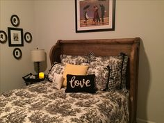 Loving my Magnolia Home Furniture Pew Headboard. The queen size was perfect.