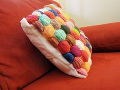 Ravelry: Derring-do's Beekeeper's Quilt --puff-mania Loom Crochet, Pillow Fight, Bee Keeping, Pin Cushions, Knit Patterns, Quilting Projects, Ravelry, Diy Crafts, Throw Pillows