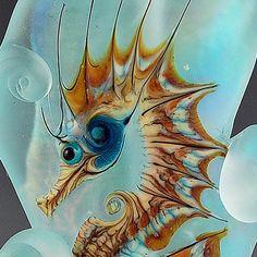 Lampwork Seahorse Bead.