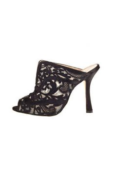 Fall and Winter Heels: Oscar de la Renta Lace Wedge