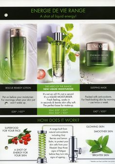 The new Lancome Energie de Vie range is now available at Magees!!