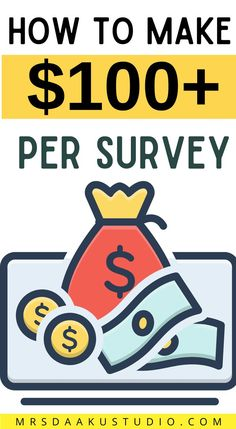 Do you want to make $100 per survey? You can take some of the best available online survey for cash to help you make extra money. #sidehustle #makemoneyonline #makingmoneyonline Make Money Fast, Make Money From Home, Free Money, Make Money Online, Surveys That Pay Cash, Survey Sites That Pay, Online Work From Home, Work From Home Moms, Online Jobs