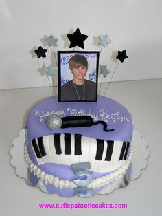 Justin Beiber cake...omg Keiryn would die! Must figure out how to make this for next year