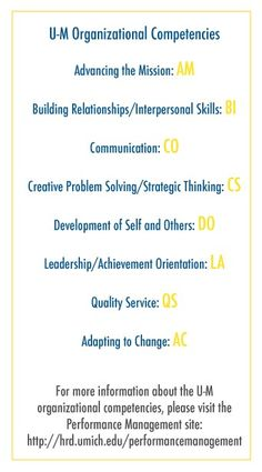 """Organizational Competencies 