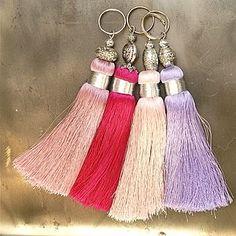 Pinks Handmade Tassels Key Rings