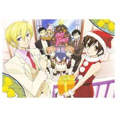 Ouran Christmas Party - Ouran High School Host Club Fan Art (8335997)... ❤ liked on Polyvore featuring home, home decor and holiday decorations