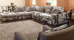 Cube (Merlin) Ashley Manor Corner sofa Crushed velvet Modular This is our new suite - can't wait!