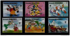 6 MINT STAMPS - DISNEY - GRENADA GRENADINES - 1988 - **/MNH - Delcampe.net