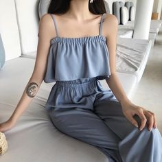 0643f29f07d Jumpsuits for women 2018 Fashion jumpsuit chic wind simple solid ruffled  Women s jumpsuit suspenders rompers womens jumpsuit