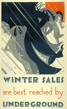 Winter Sales, E. McKnight Kauffer, 1921