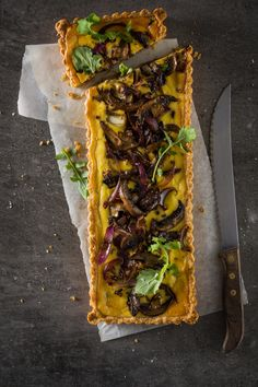 MUSHROOM AND CARAMELIZED ONION TART