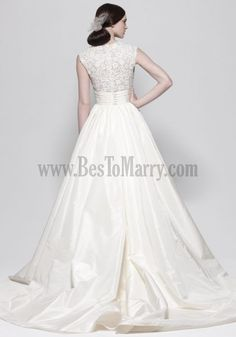 Customize Your Own A Line Wedding Dress Taffeta Lace Short Sleeve Chic And Modern Under 500 Wedding Dresses