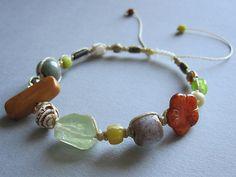 @2ndsurf bead in a macrame bracelet by #malindekoning on #etsy $32