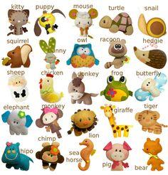 Felt animals #ideas