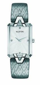 Valentino Women's V36SBQ9901SSB04 Gemme Rectangular Stainless Steel Grey Leather Watch Valentino Watches, Fashion Models, Fashion Brands, Valentino Women, Couture Collection, Grey Leather, Luxury Watches, Stainless Steel, Free Shipping