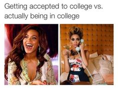 funny, college, and beyoncé image
