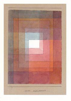 Paul Klee, polyphon gefasstes Weiss,    Feder und Aquarell aud Papier auf Karton,