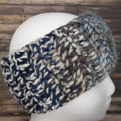 Ear Warmer Headband - Extra Soft - Winter Wear - Men's or Women's - Unisex Adults Sizes - Blues and Browns - Variations Available Bernat Softee Chunky Yarn, Ombre Yarn, Ear Warmer Headband, Ombre Color, Ear Warmers, Crochet Ideas, Strands, Color Patterns, Hand Weaving