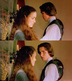 """""""Nothing's going to change, Jo."""" - Winona Ryder (Jo March) & Christian Bale (Laurie) - Little Women directed by Gillian Armstrong (1994) #louisamayalcott"""