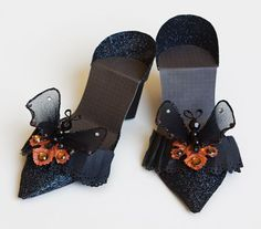 Halloween Paper craft shoes | Halloween shoes sized