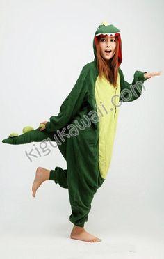Dinosaur Kigurumi Adult Animal Pajamas Cosplay Costume- this is all I want! 39bc5268d