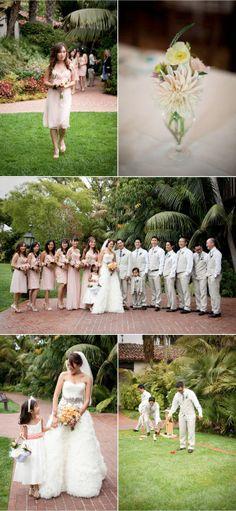 Wedding Photography: Jasmine Star Photography / Flowers: SR Hogue / Event Planning: Kelly Leonard with Event of the Season / Ceremony + Reception Location: Four Seasons Santa Barbara / Wedding Invitations: DIY / Bride's Shoes: Lanvin