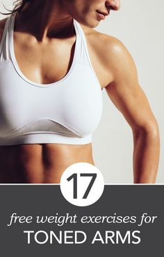At-Home Workout: 17 Simple and Easy Free Weight Exercises #fitness #newyear #newyou