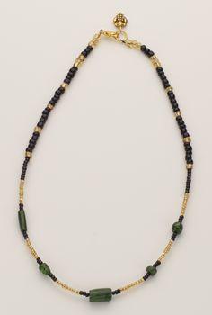 Moss polymer clay focal beads.