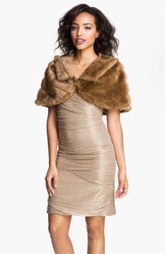 Eliza J Collared Faux Fur Bolero available at #Nordstrom