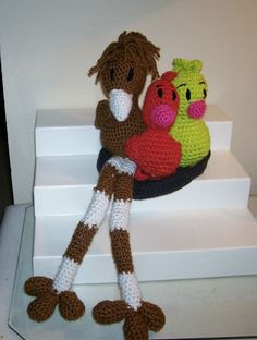 Crochet Mama and           Mama Cuckoo and Babies