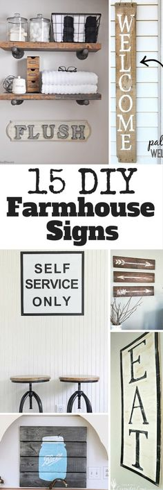 DIY Farmhouse Signs
