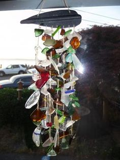 Hmm, recycled glass wind chimes?