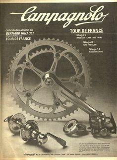 Campagnolo congratulates Bernard Hinault on winning the 1981 Tour de France