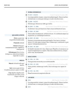 Free ATS (Applicant Tracking System) Optimized Resume Templates http ...