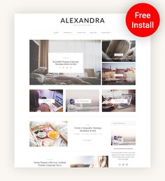 "Alexandra - WordPress Theme Blog - WordPress Website - WordPress Template - Blog Theme - WordPress Blog - ""Alexandra"" Instant Digital Download.  Purchasing this theme you take advantage of Free Support & Installation. #blog #template #digitaldownload"