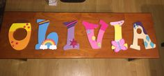 MY LITTLE PONY Hand-painted Wooden Letters by LittleLetterStore