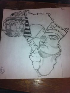 King Tut And Queen Nefertiti Africa Outline Drawing By Ced Tatau . Cool Tattoo Drawings, Outline Drawings, Tatoo Art, Owl Outline, Tattoo Sketches, Star Tattoos, Body Art Tattoos, Sleeve Tattoos, Script Tattoos