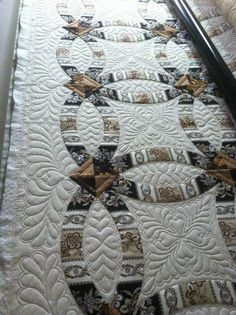 double wedding ring quilt made in squares                              …