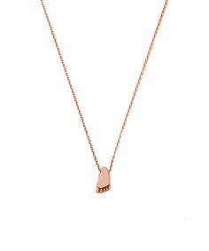 Joy de la Luz initial collier 14K gold | foot small roségold