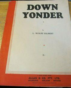 DOWN UNDER BY L. WOLFE GILBERT MUSIC SHEETS 1921 #ALLANCOPTYLTD Music Sheets, Sheet Music, Music Books, Resume, Ebay, Chart Songs, Musik, Cv Design