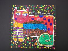3rd Grade Laurel Burch Cats | Flickr - Photo Sharing!
