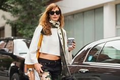 The NYFW Street-Style Looks That Truly Stunned #refinery29  http://www.refinery29.com/2014/09/73987/new-york-fashion-week-2014-street-style-photos#slide3  Ece Sükan brings out the fall scarf.