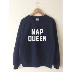 Nap Queen Sweatshirt Sweater Jumper High Retail Quality SCREEN PRINT... (£15) ❤ liked on Polyvore featuring tops, hoodies, sweatshirts, unisex sweatshirts, fleece lined sweatshirt, sport top, sports tops and screen print sweatshirt